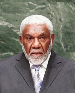 Vanuatu's Prime Minister, Honorable Joe Natuman